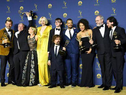 Los actores y productores de Juego de tronos.
