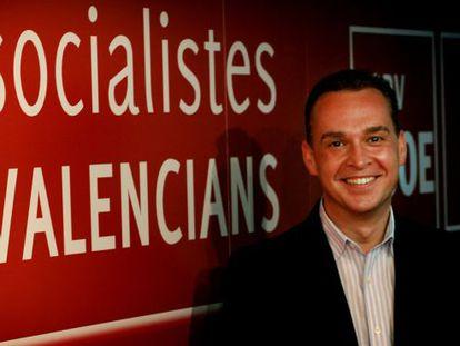 Francesc Romeu en la sede del PSPV-PSOE.