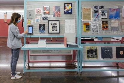 Exposición Industria/ Matrices, tramas y sonidos del IVAM en una imagen del museo.