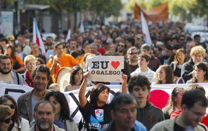 Manifestación en defensa del gallego