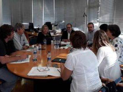 El Consejo Rector de la CVMC, en una de sus reuniones.
