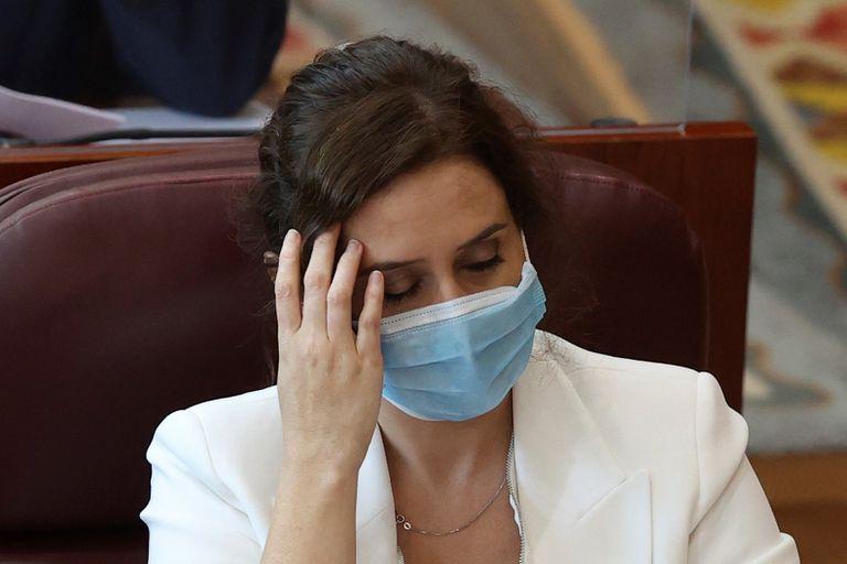 La presidenta de la Comunidad de Madrid, Isabel Díaz Ayuso, el pasado martes en la Asamblea.