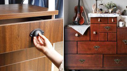 Elegimos para ti una variedad de tiradores, pomos y picaportes para renovar la apariencia exterior del mobiliario de casa.