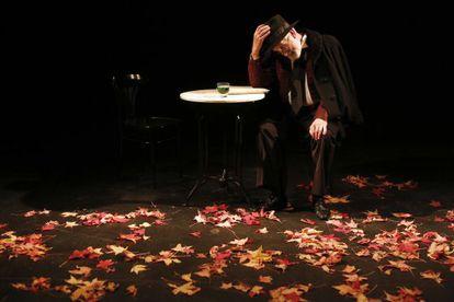 Denis Rafter, en un ensayo de 'Beloved Sinner', en el Teatro Español.