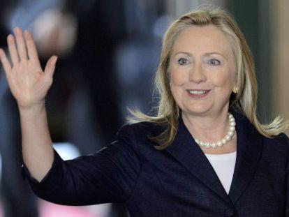 Hillary Clinton, a su llegada a la reunión de Ginebra.
