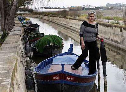 Teresa Chardí, una de las mujeres que han ganado el derecho a pescar en La Albufera de Valencia.