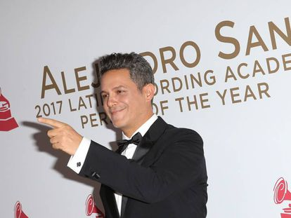 Alejandro Sanz en la gala Persona del Año 2017