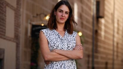 Rita Maestre, portavoz municipal por el grupo Más Madrid, durante la entrevista este martes en el Madrid de los Austrias.