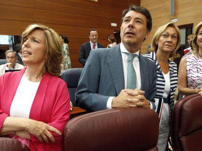 Plañiol (izquierda), con González, Mariño y Aguirre.