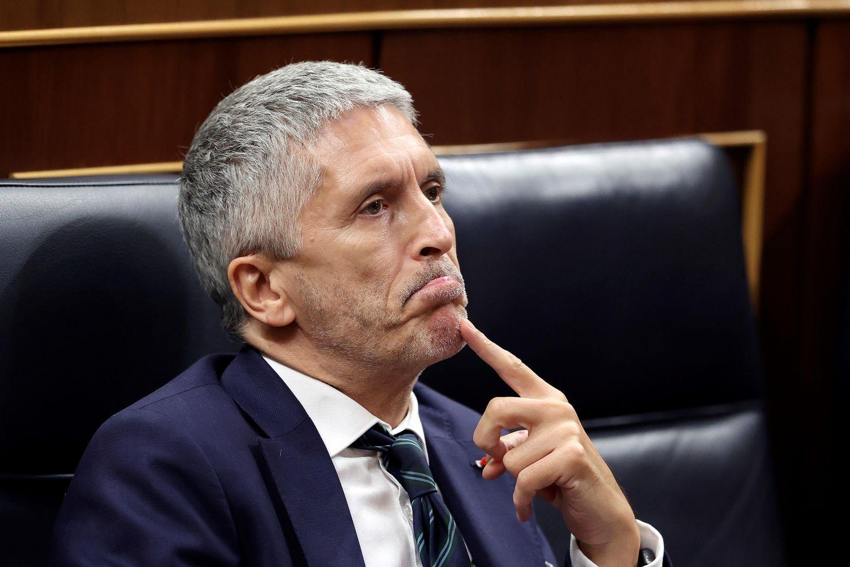 El ministro del Interior, Fernando Grande-Marlaska, en la sesión plenaria del Congreso del pasado martes.