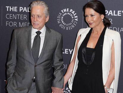 Michael Douglas y Catherine Zeta Jones, esta semana en Nueva York.