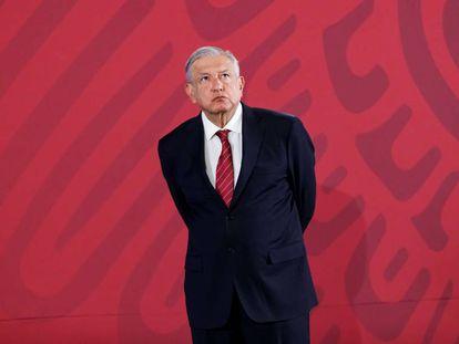 López Obrador, durante la conferencia de este viernes.