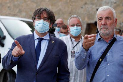 El expresidente de la Generalitat, Carles Puigdemont, en el Alguero este sábado.
