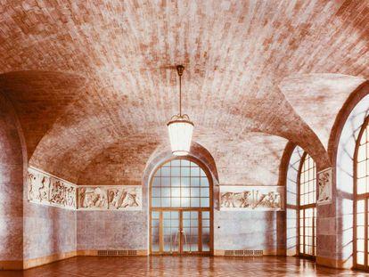 Bóvedas tabicadas en el interior del Banco Central de Baviera.