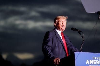 El expresidente Donald Trump, el pasado 3 de julio, durante un mitin en Sarasota (Florida).