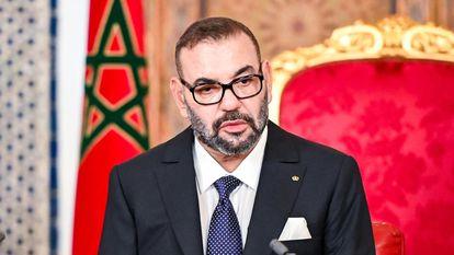 Mohamed VI, durante su discurso con motivo de la Fiesta del Trono el pasado 31 de julio.