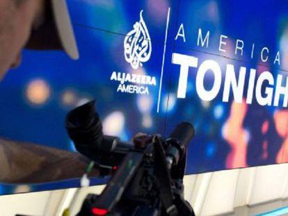 Estudio de Al Jazeera America en el Newseum de Washington.