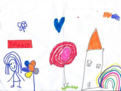 Un dibujo hecho por Yaiza, la menor asesinada por su madre en Sant Joan Despí.