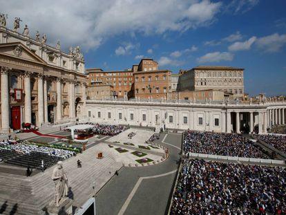 Vista general del Vaticano durante una misa el pasado domingo 29 de septiembre.