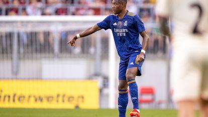 David Alaba durante el partido amistoso ante el Milan.