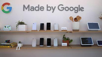 Algunos de los productos de Google, ayer durante la I/O en Mountain View.