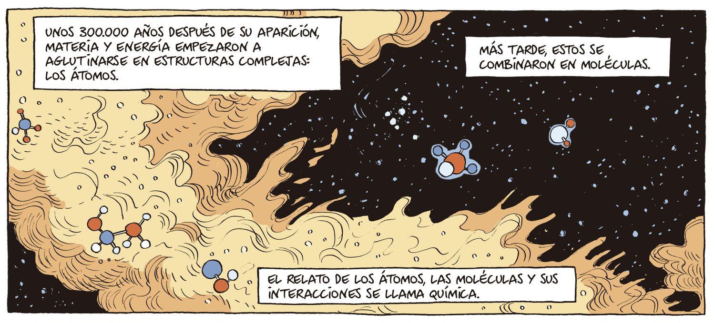Viñeta del cómic 'Sapiens', publicado por la editorial Debate este 22 de octubre.