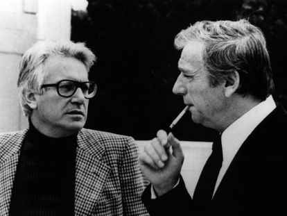 Jorge Semprún e Yves Montand.