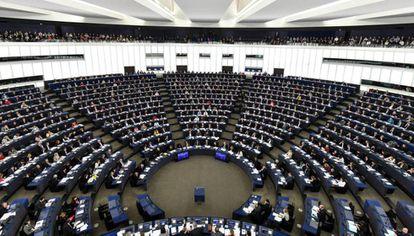 El Parlamento Europeo, durante la sesión plenaria de este martes.