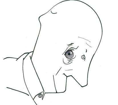 Caricatura del filósofo español Javier Muguerza.