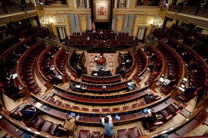 El Congreso de los Diputados el 6 de mayo en Madrid.