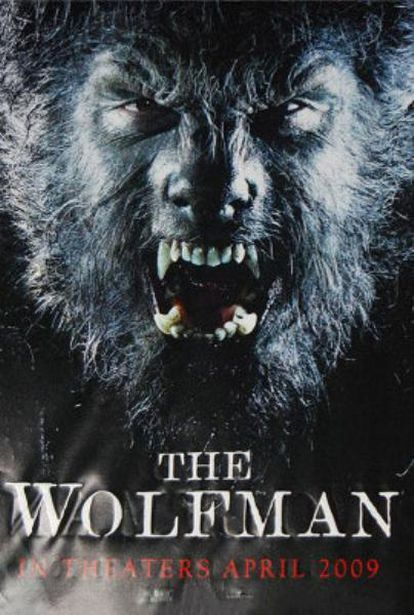Cartel de El hombre lobo (2009)
