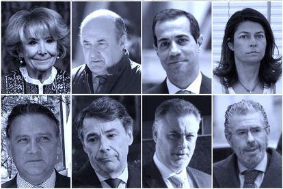 Esperanza Aguirre, Beltrán Gutiérrez, Salvador Victoria, Lucía Figar, Alfredo Prada, Ignacio González, Alberto López Viejo y Francisco Granados.