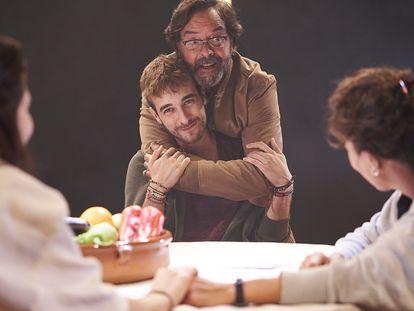 Un momento de la obra teatral 'Alguns díes d'ahir', de Jordi Casanovas, en La Villarroel.