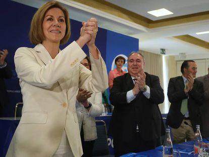 Cospedal durante la presentación de su candidatura.