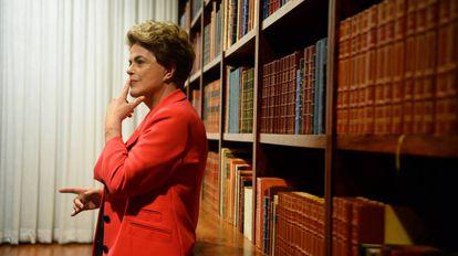 Dilma Rousseff en el palacio de la Alvorada (Brasilia).