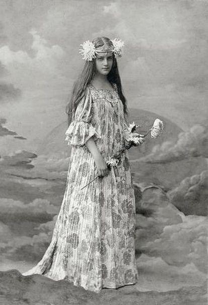 La princesa Yelizaveta, Eli, Golítsina, poco antes de su matrimonio con el príncipe Vladímir Trubetskói