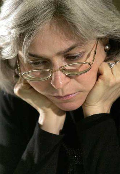 Anna Politkóvskaya, en una fotografía de 2004.