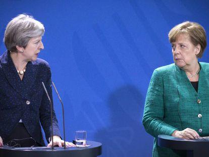 Merkel y May hablan sobre los planes para cuando Reino Unido salga de la Unión Europea