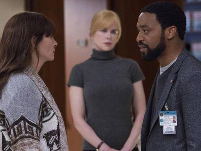 Julia Roberts, Nicole Kidman y Chiwetel Ejiofor, en la película.