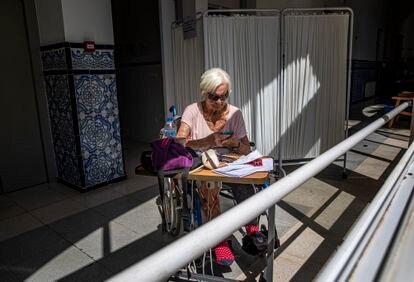 Pamela, una residente inglesa que acudió al centro de Fontilles después de morir su marido y quedarse sola en una población cercana.