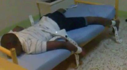 Imagen de un vídeo difundido por trabajadores de Ginso en 2015 para denunciar el régimen del centro.