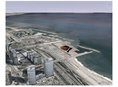 Simulación del proyecto 'Expectation', de Rodríguez Gerada, tal y como quedará en el Fòrum de Barcelona.