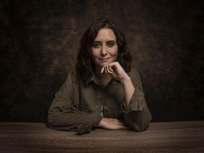 La presidenta de la Comunidad y candidata del PP en las elecciones del 4 de mayo, Isabel Díaz Ayuso, el pasado jueves en Madrid.