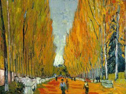 'L' Allée des Alyscamps' (1888), óleo de Vincent Van Gogh.