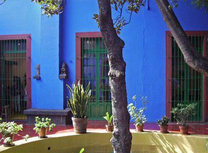 Patio interior del museo Casa Azul, Coyoacán (México).