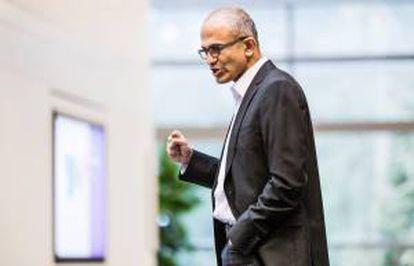 Imagen sin fecha, cedida por Microsoft el pasado 4 de febrero, en la que se registró al nuevo consejero delegado del gigante del software, Satya Nadella.