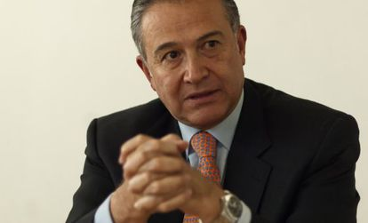 Óscar Naranjo, durante la entrevista.