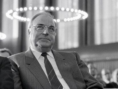 El canciller Helmut Kohl, en 1991 en Bonn, entonces la capital.