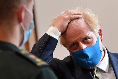 El primer ministro Boris Johnson el lunes 13 de julio