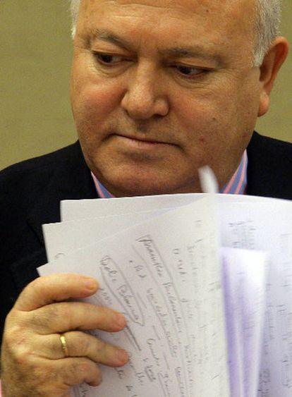 Moratinos, ayer durante su comparecencia en el Congreso.